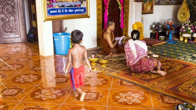 Giovane monaco immagini stock