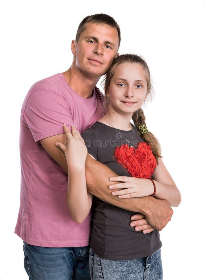 Giovane padre con la figlia sorridente immagini stock libere da diritti