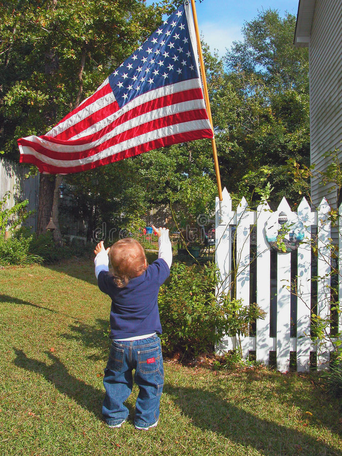 Giovane patriota immagini stock