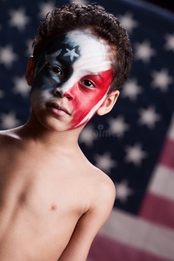 Giovane patriota americano immagine stock
