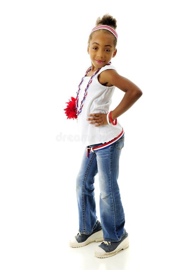Giovane patriota con l'atteggiamento fotografie stock