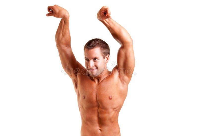 Giovane posizione del bodybuilder immagine stock libera da diritti