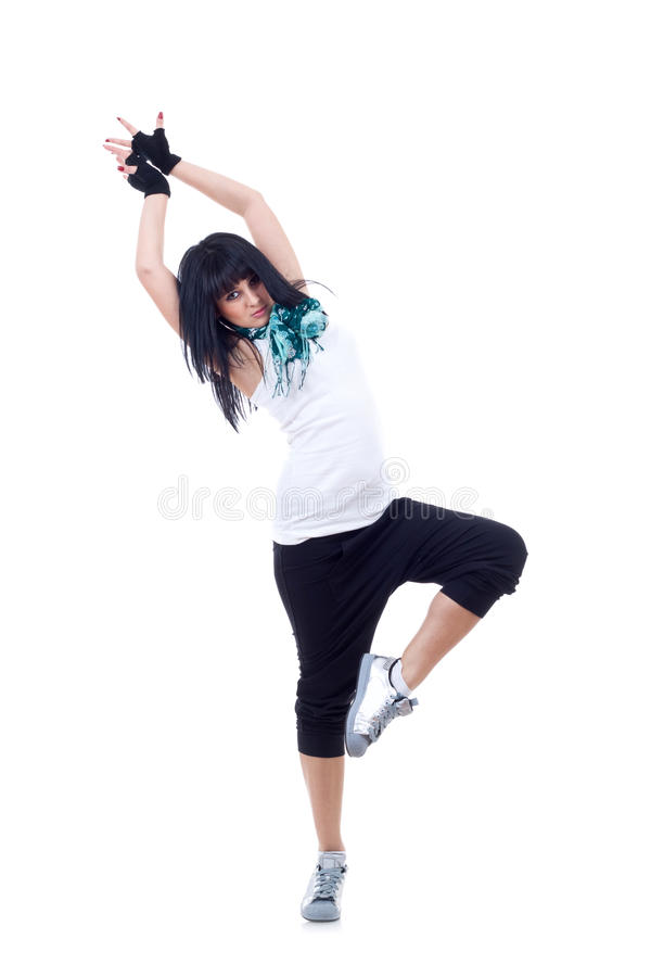 Giovane posizione del danzatore di hip-hop immagini stock libere da diritti