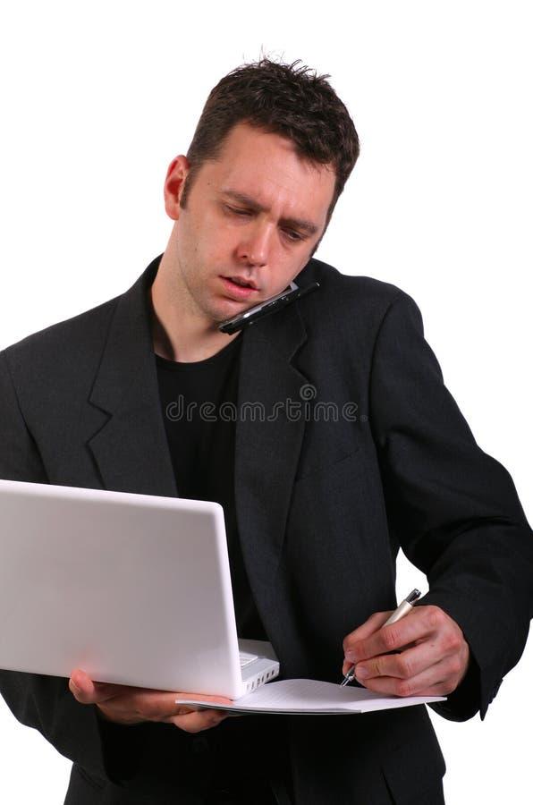 Giovane professionista occupato immagini stock