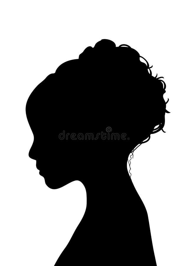 Giovane profilo femminile illustrazione di stock