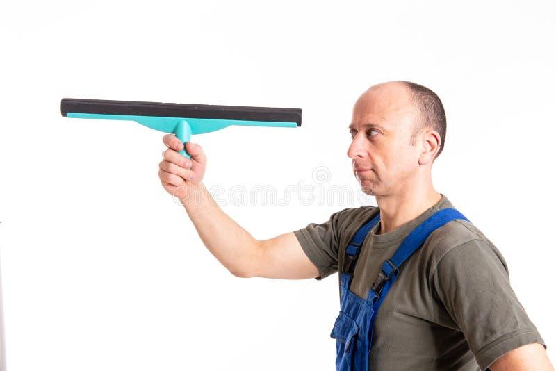 Giovane pulitore professionale maschio immagini stock