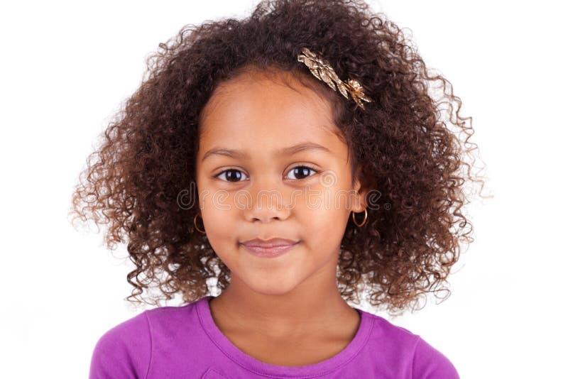 Giovane ragazza asiatica africana sveglia fotografie stock