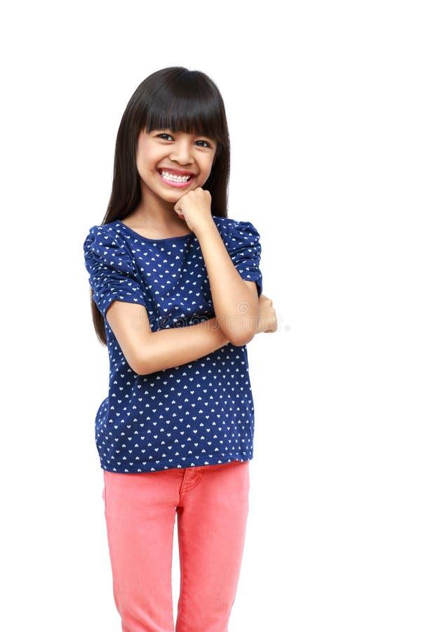 Giovane ragazza asiatica felice immagini stock