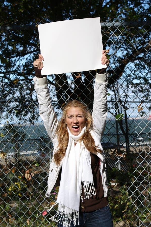 Giovane ragazza dell'ecologo immagine stock libera da diritti