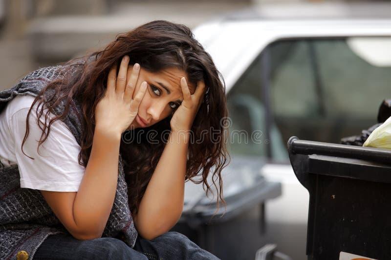Giovane ragazza povera fotografie stock libere da diritti