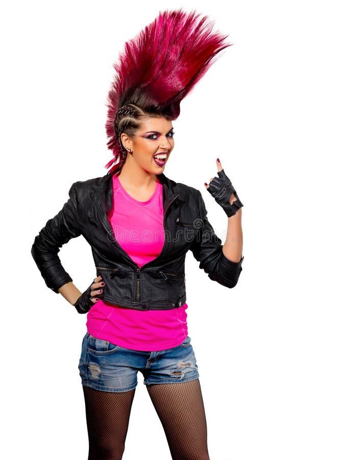 Giovane ragazza punk isolata immagine stock libera da diritti
