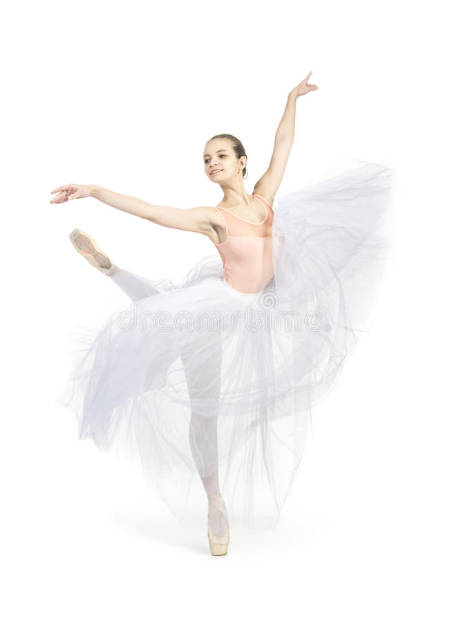 Giovane, ragazza sorridente che balla il balletto immagini stock libere da diritti
