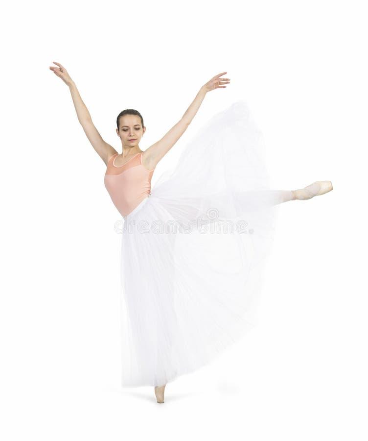 Giovane, ragazza sorridente che balla il balletto immagine stock libera da diritti