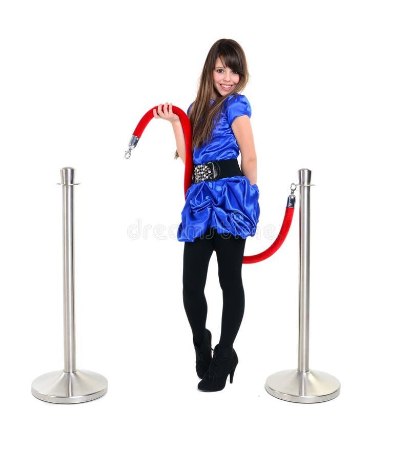 Download Giovane Ragazza Sorridente Che Posa Con Una Corda Rossa Immagine Stock - Immagine di mano, persona: 30825879