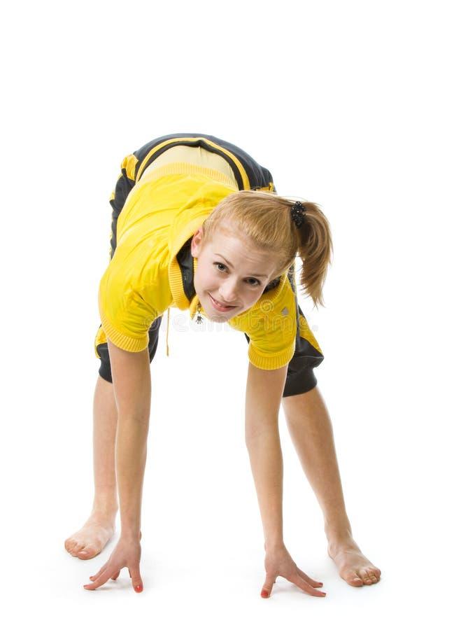 Giovane ragazza sportiva fotografia stock