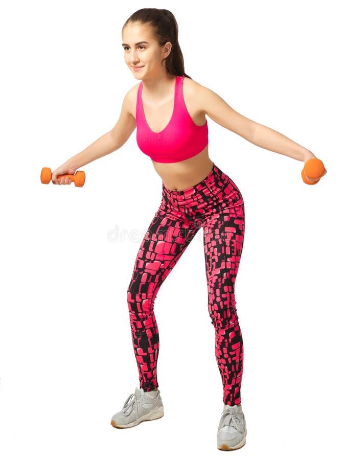 Giovane ragazza sportiva isolata immagine stock
