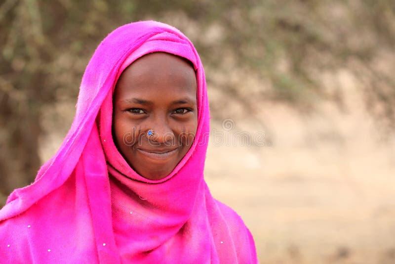 Giovane ragazza velata fotografia stock libera da diritti