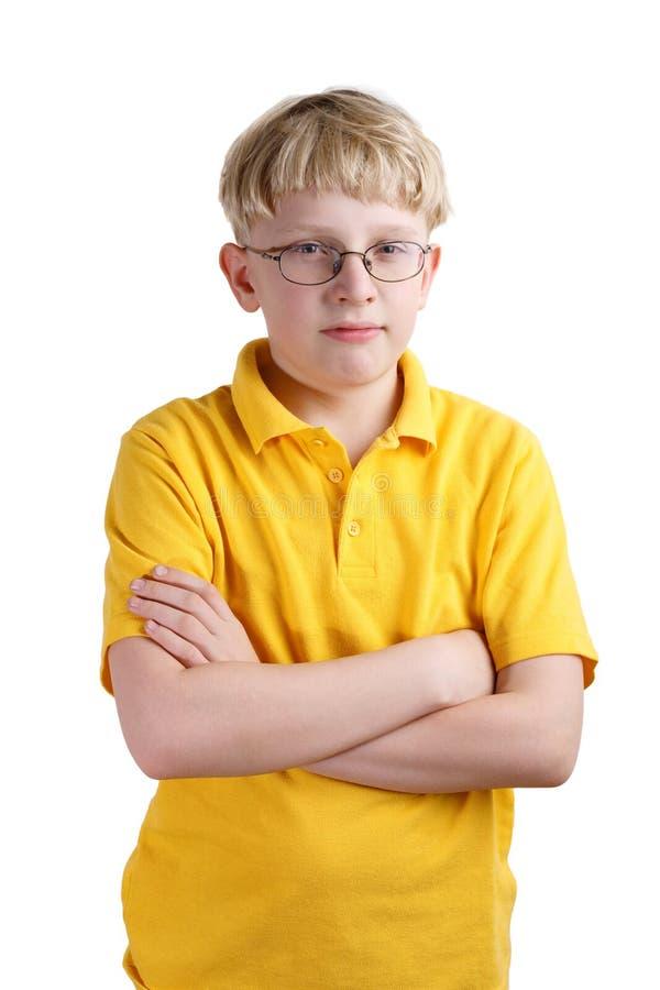 Giovane ragazzo biondo immagine stock