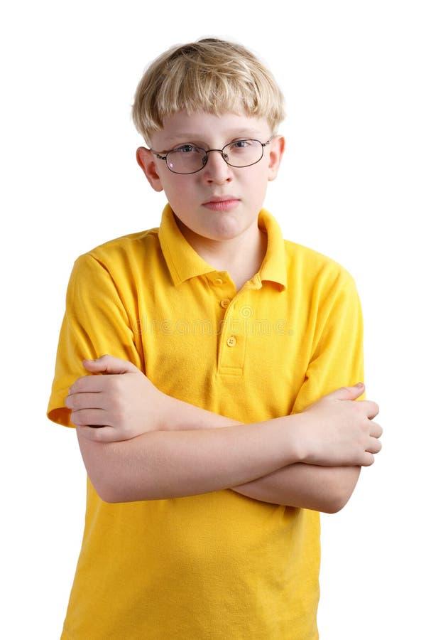 Giovane ragazzo biondo fotografie stock libere da diritti