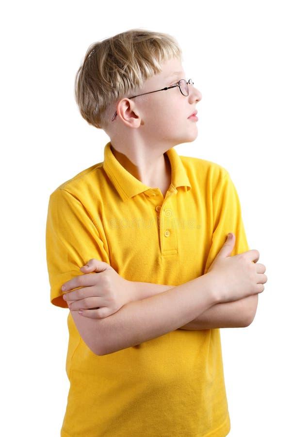 Giovane ragazzo biondo fotografia stock libera da diritti