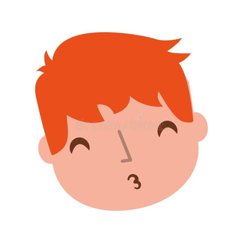 Giovane ragazzo inviato a bacio dell'aria illustrazione di stock
