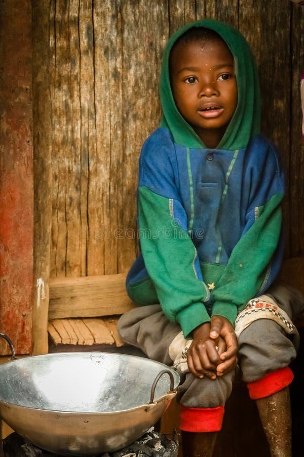 Giovane ragazzo malgascio fotografia stock libera da diritti