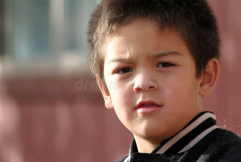 Giovane ragazzo Quizzical immagine stock libera da diritti