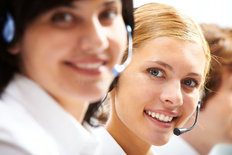 Giovane receptionist immagini stock