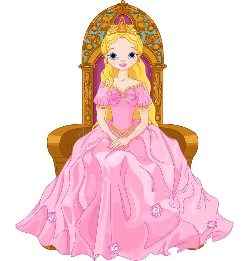 Giovane regina illustrazione vettoriale