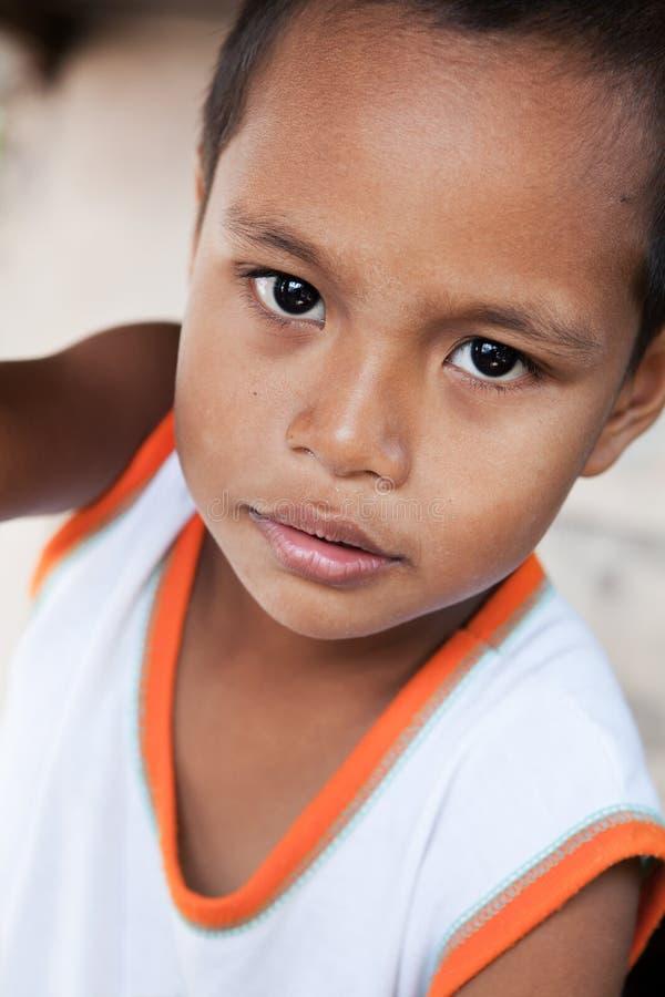 Giovane ritratto asiatico del ragazzo in Filippine immagini stock libere da diritti