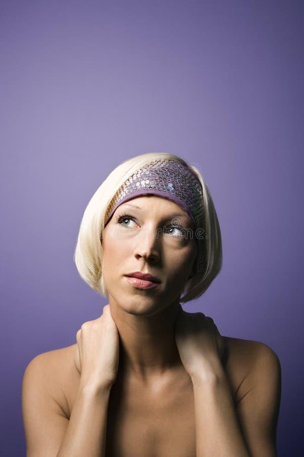 Giovane ritratto caucasico della donna. fotografie stock