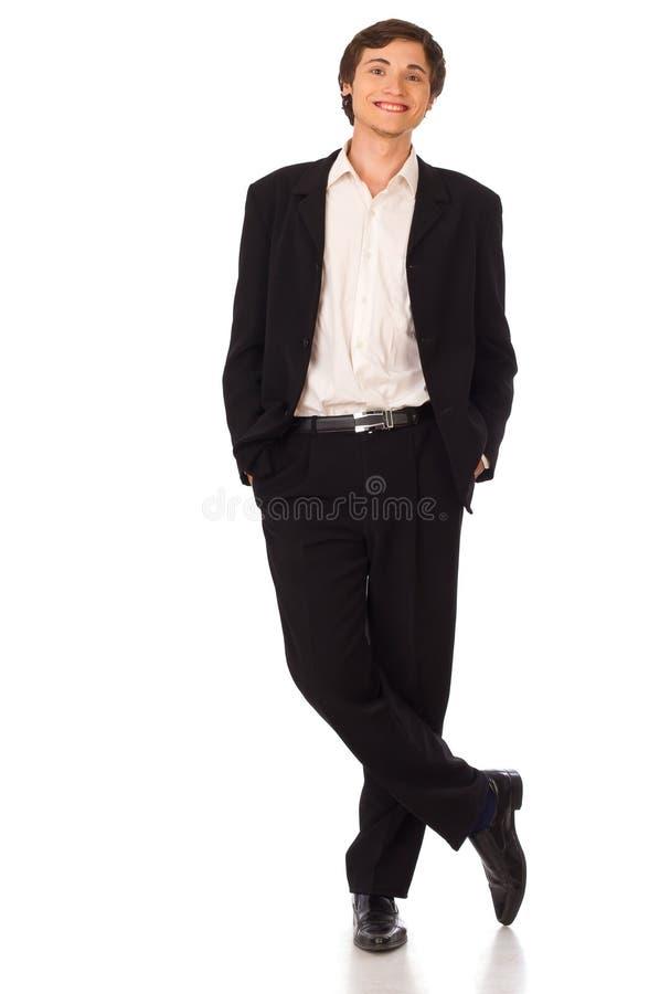 Giovane ritratto sorridente dell'uomo di affari fotografia stock libera da diritti