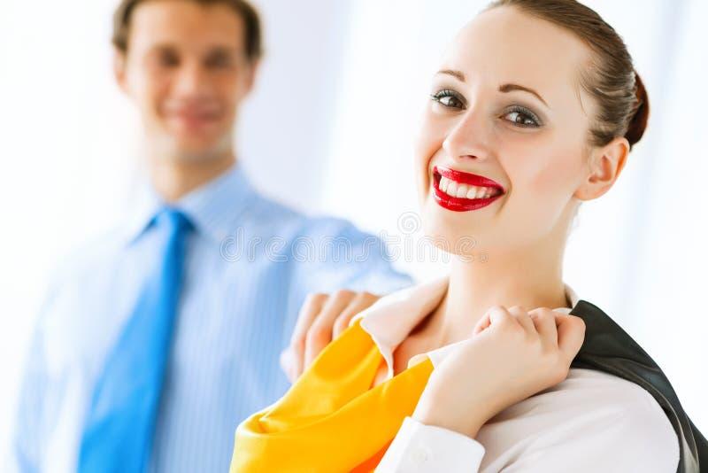 Giovane riuscita donna di affari immagini stock libere da diritti
