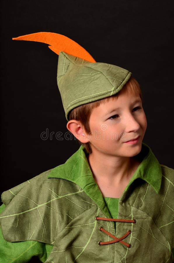 Giovane Robin Hood fotografia stock