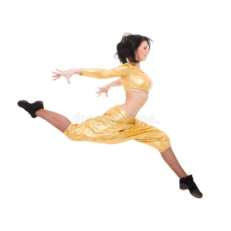 Giovane salto attraente del danzatore immagine stock libera da diritti