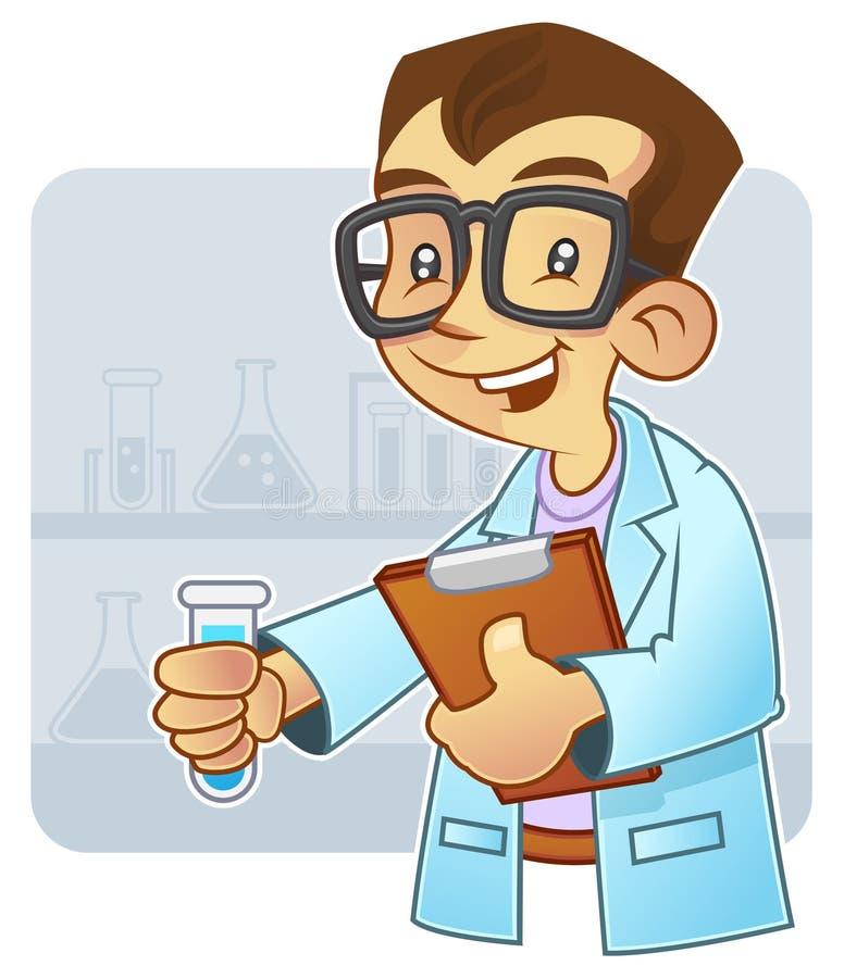 Giovane scienziato royalty illustrazione gratis