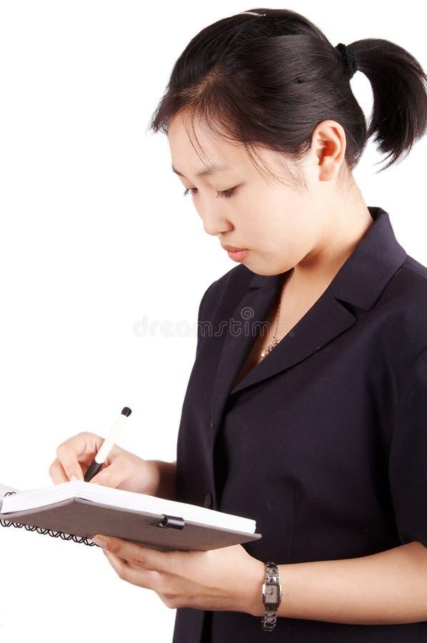 Giovane segretaria o donna di affari immagini stock libere da diritti