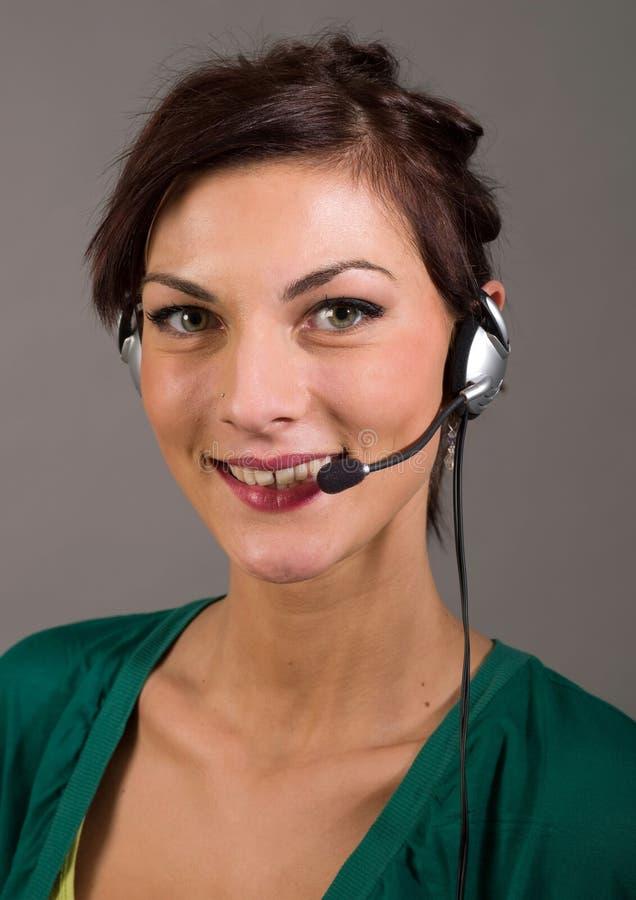 Giovane servizio di assistenza al cliente immagine stock
