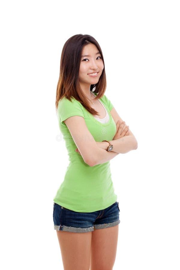 Giovane signora asiatica. immagini stock