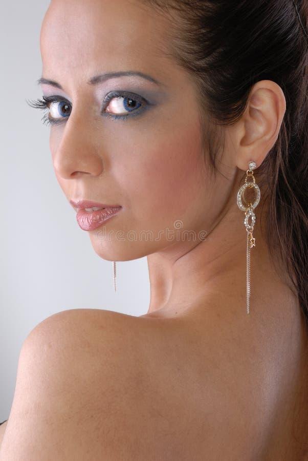 Giovane signora attraente immagini stock