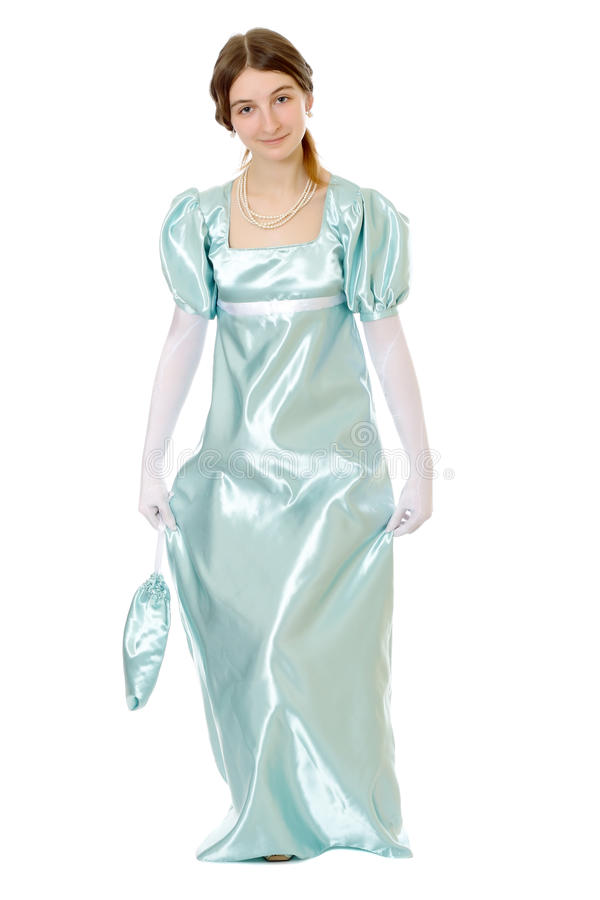 Giovane signora Charming del victorian immagini stock libere da diritti