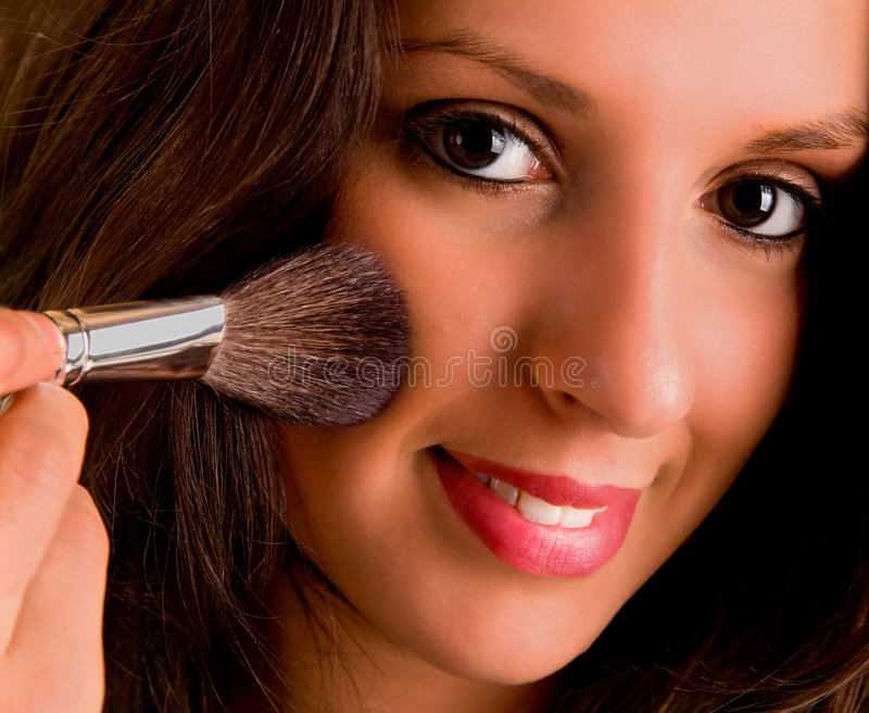 Download Giovane Signora Che Arrossisce La Sua Guancica Fotografia Stock - Immagine di brown, facciale: 3881358