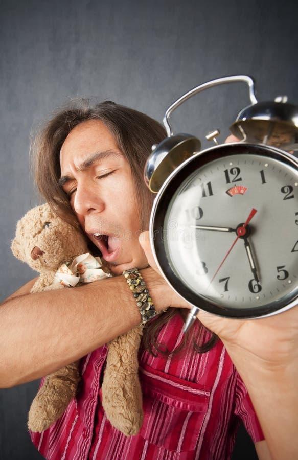 Giovane sonnolento immagini stock libere da diritti