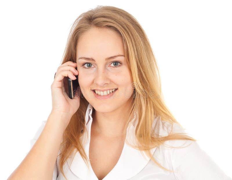 Giovane sorridere della donna di affari immagini stock