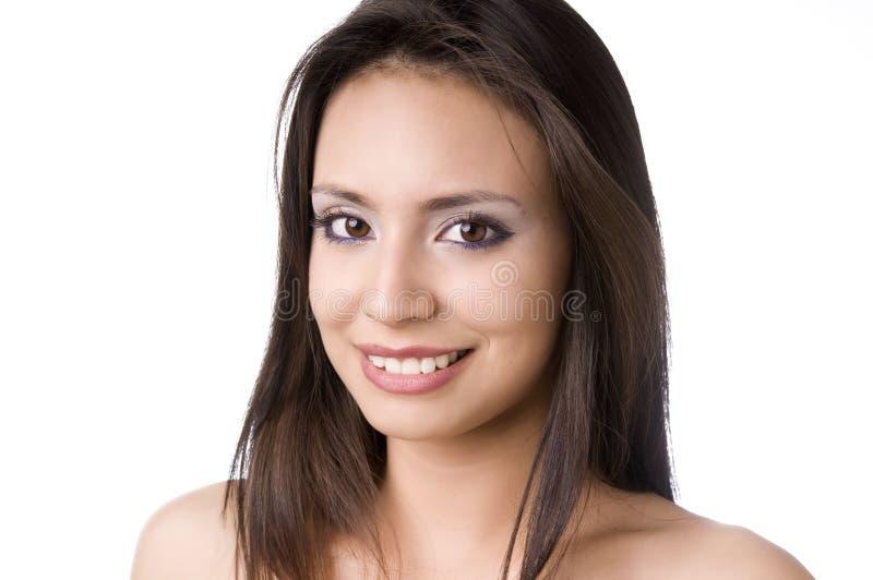 Giovane sorridere felice di Bautiful fotografie stock