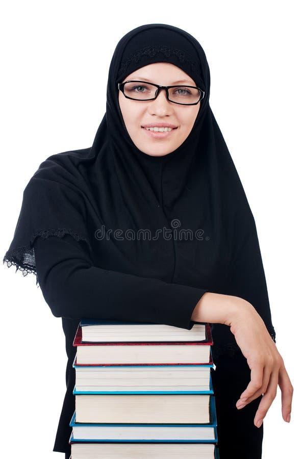 Giovane studentessa musulmana fotografia stock libera da diritti