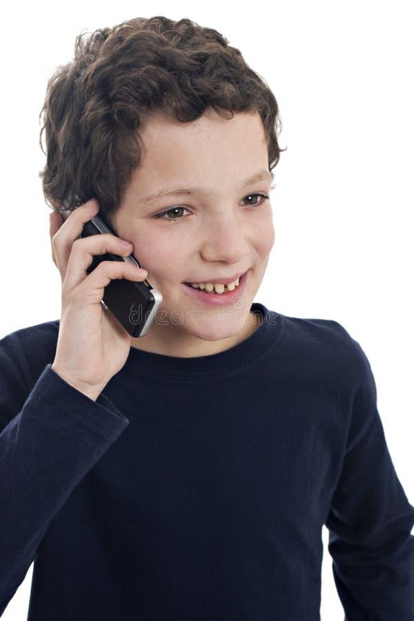 Giovane sul telefono immagini stock libere da diritti