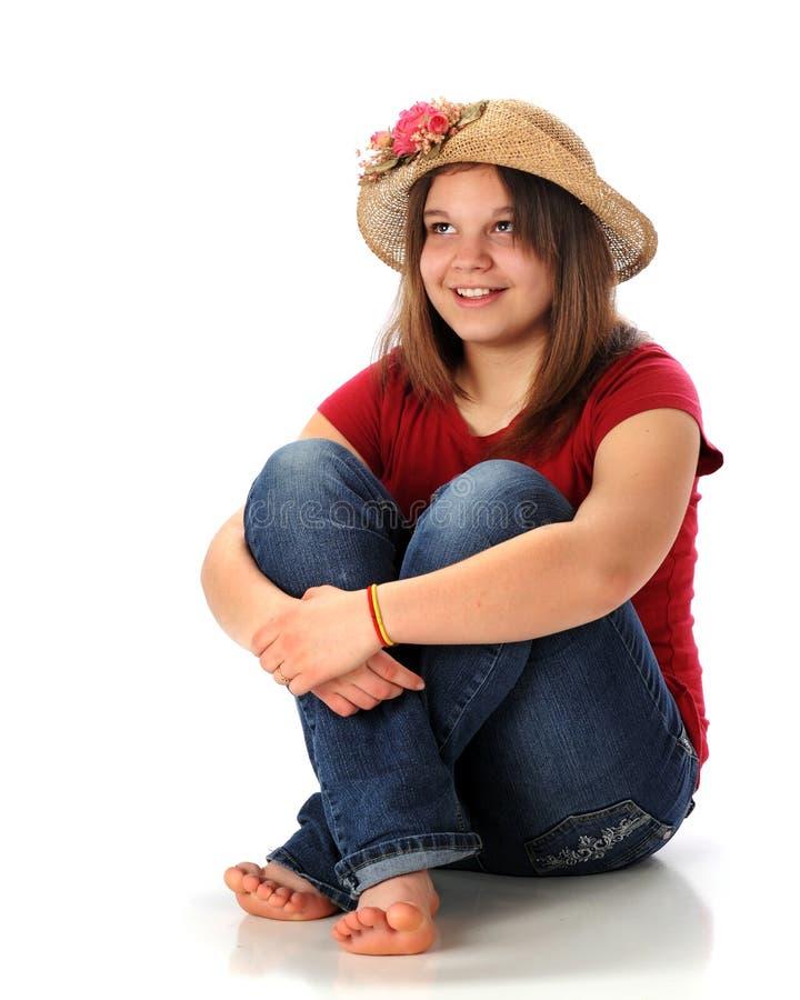 Giovane teenager felice fotografia stock