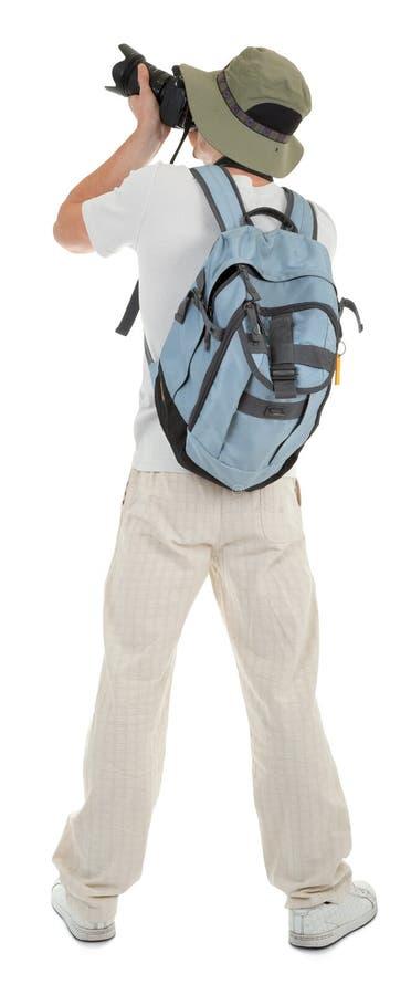 Giovane turista con la macchina fotografica immagine stock