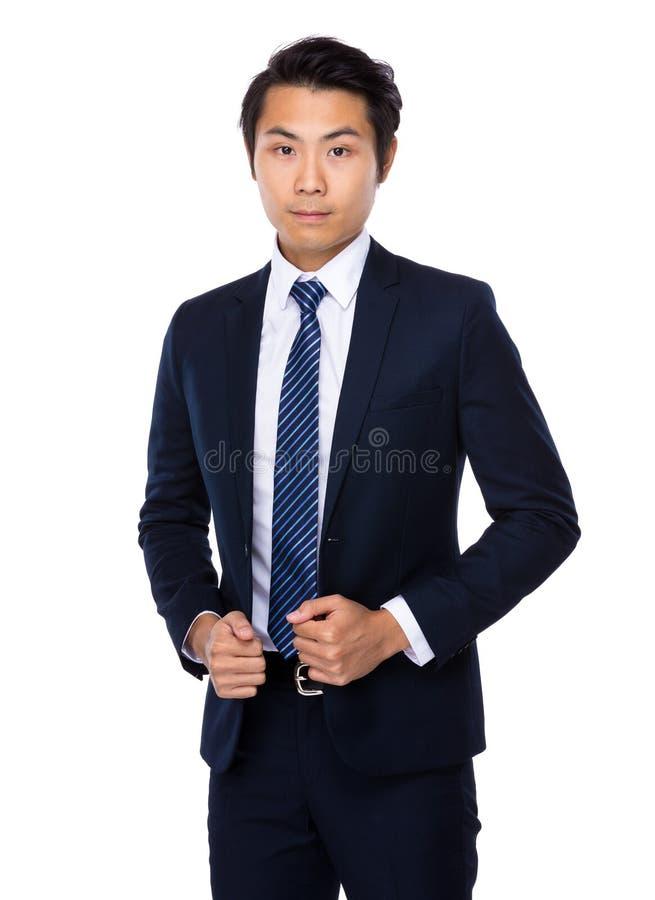 Giovane uomo asiatico di affari fotografie stock